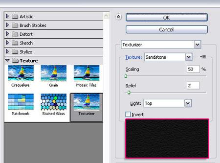 Filter -> Texture -> Texturizer