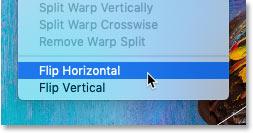Перемещение контрольной точки из центра в сторону изображения